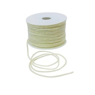 1 Woll-Kordel 4 mm x 80 m - champagner